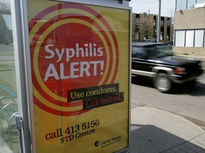 In 2007, the former Capital Health launched a public information campaign regarding the dangers of syphilis as a result of an outbreak of the disease in Alberta. The campaign included ads at bus stops on 124 Street at 112 Avenue.