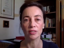 Julie Ponesse in a video she posted about her decision not to get vaccinated.