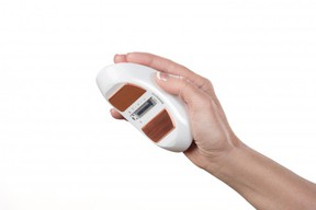 The Menopod cooling device resembles a computer mouse. MENOPOD photo