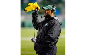 The Riders and head coach Corey Chamblin have been challenged by penalties this season (TROY FLEECE / Regina Leader-Post)