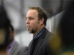 University of Regina Cougars head coach Todd Johnson, shown here during a game on Jan. 16, 2016, believes the men's hockey team has a foundation on which to build.
