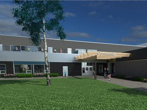 An artist rendering of a joint-use school in Regina.