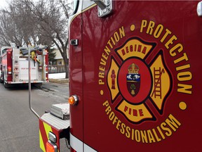 Regina Fire and Protective Services logo.