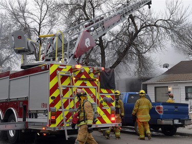A stubborn house fire on the 1200 block King St. kept Regina Fire and Protective Services busy on Thursday morning.