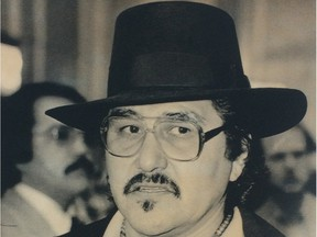 A 1985 photo of Metis leader Harry Daniels, a party to a 1999 lawsuit that was decided Thursday with the Supreme Court of Canada unanimously ruling that Metis and non-status are Indians under the Constitution.