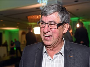 Former Saskatchewan Party finance minister Ken Krawetz excited about the election results at the Hotel Saskatchewan in Regina on April 4, 2016.