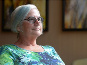 Dorothy Reid, co-chair of the family advisor committee for Canada FASD, sits in the lobby of the DoubleTree hotel in Regina, Sask. on Sunday Aug. 28, 2016.