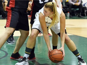 University of Regina Cougars forward Charlotte Kot, shown here in a file photo, hopes to return from a knee injury after Christmas.