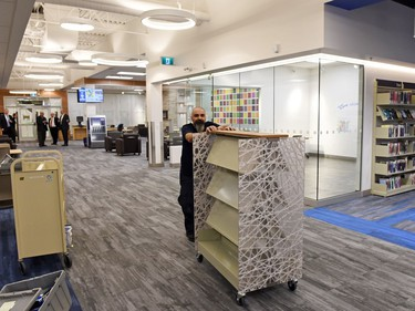 The rebuilt George Bothwell branch public library in the Southland Mall in Regina.
