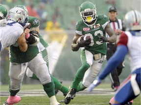 Riders running back Joe McKnight (33) was killed on Thursday after a suspected road-rage incident near New Orleans.