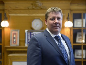 Environment minister Scott Moe at his office at the Legislative Building.
