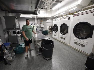 A look at the laundry  during a media tour of the Roughriders' facilities at the New Mosaic Stadium in Regina.