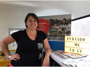 Tina Hennigar is touring across Canada in efforts to recruit new residents to Lunenburg County, N.S. She stopped in Regina on Wednesday.