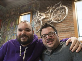 Andrew Ronnie (left) and Michael Lavis, executive director of Creative Options Regina — a non-profit organization that provides personalized supports to those with intellectual and mental health challenges.