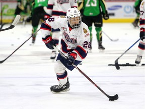 Cole Dubinsky, who just turned 15, is enjoying his first taste of WHL action with the Regina Pats.