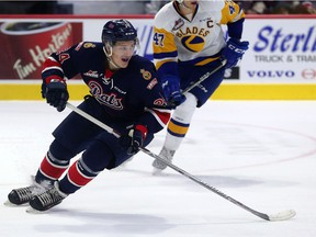 The Regina Pats' Koby Morrisseau is using hockey as a means of healing after the recent death of his father.