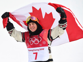 Canada's Sebastien Toutant won the gold medal in snowboard big air on Saturday morning, as many of the favourites struggled to land their tricks.
