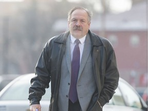 Former RM of Sherwood councillor Tim Probe arrives at Regina Court of Queen's Bench in 2018.