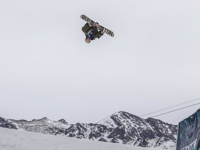 Mark McMorris, of Canada, competes in the men's slopestyle final at the U.S. Open snowboarding championships Friday, March 9, 2018, in Vail, Colo. McMorris took first for the second year in a row.