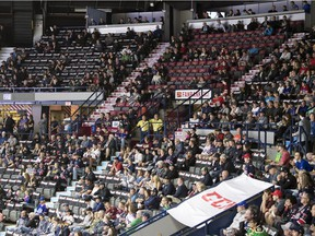 Empty seats have been part of the story at the 100th Memorial Cup.