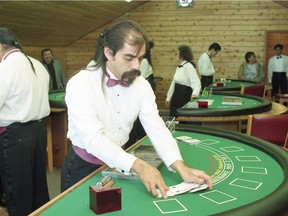 For Moment in Crime Series by Regina Leader-Post. Feb. 26, 1993: Opening of a casino White Bear First Nation near Carlyle. BRYAN SCHLOSSER/Leader Post archives