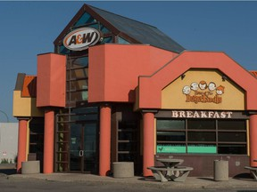 The A&W restaurant on Victoria Avenue near Arcola Avenue, where a break-in allegedly took place on Tuesday morning.
