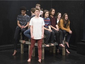 Mac Findlay (front) is part of Concord Floral, which runs March 28-April 6 at the Globe Theatre.
