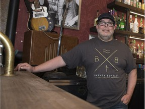 Revival Music Room owner Rick Krieger stands behind the bar in March 2018.