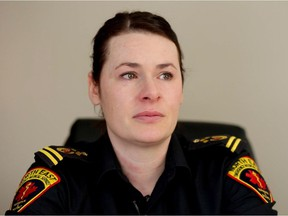 Jessica Brost, a paramedic from Nipawin, Sask., was one of the first responders to the scene of the Humboldt Broncos crash site. Leah Hennel/Postmedia