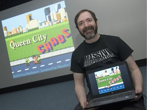 Kai Hutchence, a local game developer, is the head of the game development studio Massive Corporation Game Studios . Kai is making a video game set in Regina called Queen City Chaos. The game has a retro style and will showcase several Regina landmarks.