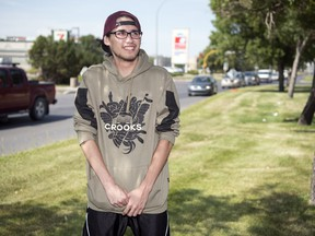 Jamie Strongeagle poses for a portrait in south Regina. Strongeagle was the victim of a hit and run in the city's east side.