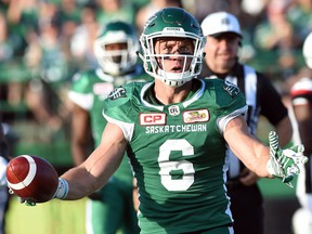 Rob Bagg, shown with the Saskatchewan Roughriders in 2016, has accepted the reality that his football days are behind him.