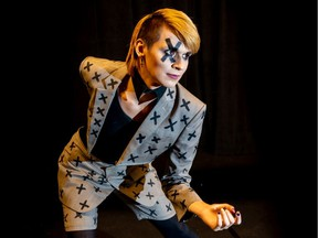 Zach Hoggarth performs drag as Lalabottomé. They will be part of New Dance Horizons' Wigs on Fire Kiki Vogue Ball on Friday, Oct. 25, 2019.