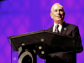 Michael Bloomberg speaks at the Christian Cultural Center on November 17, 2019 in New York. (Yana Paskova/Getty Images)
