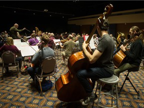 In this file photo from March 2019, members of the Regina Symphony Orchestra (RSO) practice at the Conexus Arts Centre.