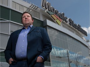Tim Reid, president and CEO of Evraz Place, stands outside Mosaic Stadium, home of the Saskatchewan Roughriders.