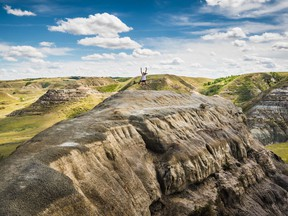 Regina's Cory Dumalski took grand-prize honours as well as first place in the Outdoor Fun category in the annual Tourism Saskatchewan ExploreSask Photo Contest with this photo taken at Castle Butte in the Big Muddy Badlands in southern Saskatchewan. Photo courtesy Tourism Saskatchewan.
