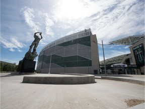 Mosaic Stadium sits empty on Monday, when the cancellation of the 2020 CFL season was announced.