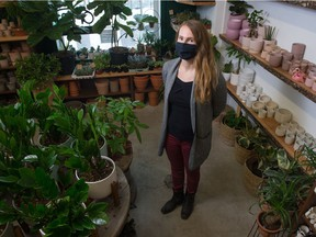 Kait Waugh, owner of Fat Plant Farm stands in the company's space on Mcara Street in Regina, Saskatchewan on Jan. 27, 2021. She is one of the Sask. business owners using a new local online shopping platform.