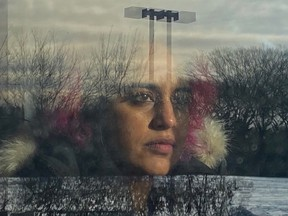 Agam Darshi, writer, director and star of Donkeyhead, which is being filmed in Regina in January and February 2021. Photo Credit: Leo Harim, Cinematography.
