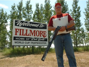 Rod Boll, a world-class trapshooter who competed for Canada at the 1996 Summer Olympic Games, is shown in 2006 in his hometown of Fillmore. Boll died Jan. 28 at age 68.