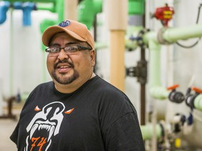 Nathan Martell is the water operator at Moosomin First Nation. Photo taken on Moosomin First Nation on Aug. 5, 2020.