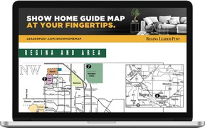 """Record low mortgage rates and a tightening real estate market make this a good time to start shopping for a new home. Check out the latest model homes in the """"Show Home Guide Map"""" featured in Saturday's Regina Leader-Post and on leaderpost.com/showhomemap. The guide includes show home locations, hours and contact information. (SUPPLIED)"""