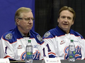 Gavin Semple (left) and his son Shaun (right) are now in full control of the Regina Pats after buying out former part-owners Anthony Marquart and Todd Lumbard.