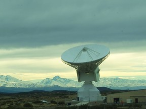 SED Systems' satellite dish in Argentina. SED Systems, now Calian, constructed three 35-metre wide satellite dishes in Australia, Spain and Argentina.
