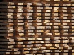 Lumber for September delivery gained 7.7 per cent to US$584 per thousand board feet at 11:24 a.m. on the Chicago Mercantile Exchange, the biggest percentage gain since April 2020.