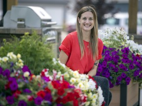 Andrea Robichaud, a local chef and creator of Cooking for a Cause At Home, near her home on Saturday, Aug. 7, 2021 in Regina.