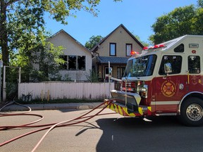 A fire caused extensive damage to a home on the 800 block of Cameron Street on Tuesday morning. Regina Fire & Protective services said no one was injured in the fire, and the cause is now under investigation. Photo by Mark Melnychuk