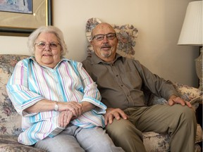 Sharon and Richard Berard in their Regina home on Oct. 19, 2021.