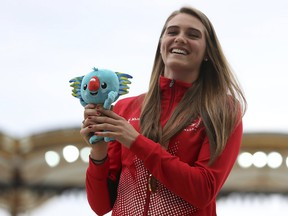 Alysha Newman won the women's pole vault competition at the Commonwealth Games in Gold Coast, Australia, in April.